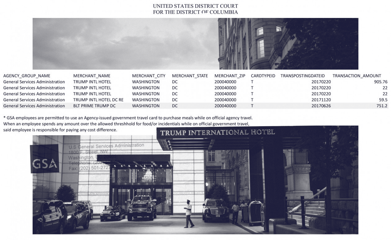 FOIA Litigation Reveals U.S. General Services Administration Expenditures at Trump Businesses